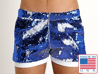 LASC Transformer Sequined Sparkle Trunk White/Royal