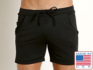 LASC Performance Pique Mesh Workout Short Black