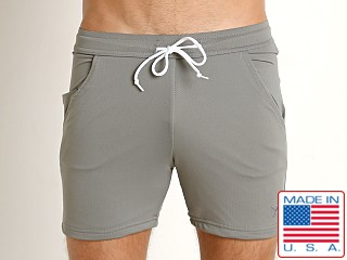LASC Performance Pique Mesh Workout Short Grey