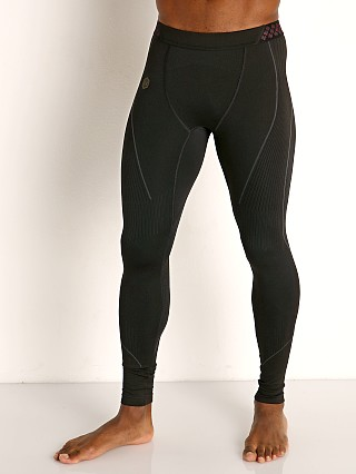 Model in black Under Armour Rush Seamless Leggings