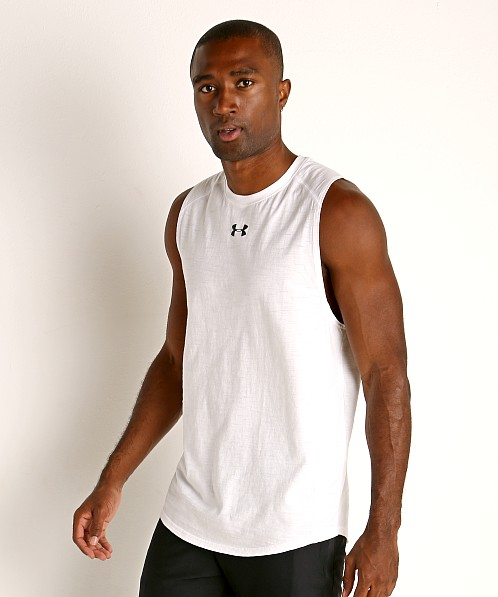 Under Armour Charged Cotton Tank Top White/Black