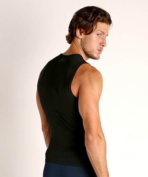 Under Armour Heatgear Rush Compression Muscle Tee Black/Black
