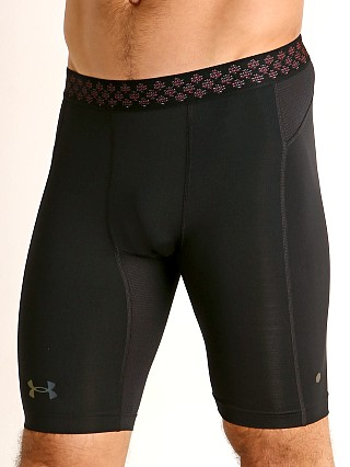 Model in black Under Armour HeatGear Rush 2.0 Compression Short