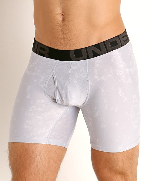 "Under Armour Tech Mesh Front 6"" Boxerjock 2-Pack Mod Gray"