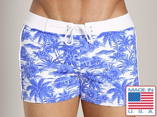 Sauvage Vintage Bali Retro Swimmer Blue Hawaii