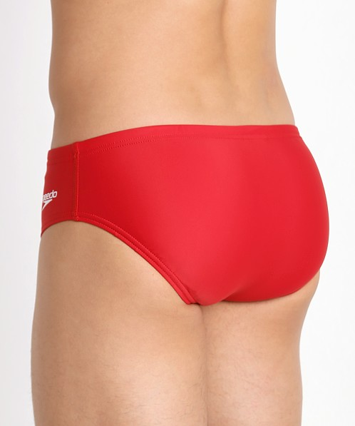 Speedo Powerflex Eco Solid Brief True Red