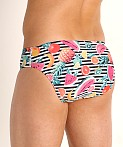 Speedo Endurance Print Swim Brief Fusion Coral Fruits, view 4