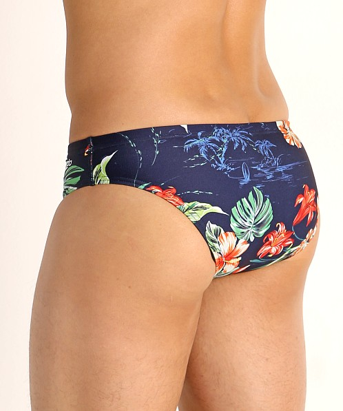 Speedo One Print Swim Brief Island Vision