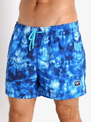 Model in peacoat Speedo Tie Dye Volley Swim Trunk