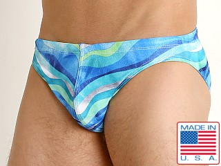 LASC St. Tropez Low Rise Swim Brief Aqua Water