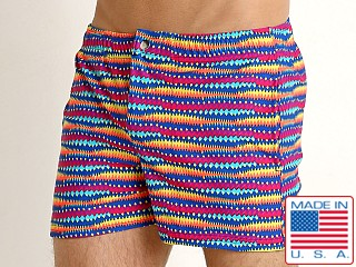 LASC Malibu Swim Shorts Jagged Lines