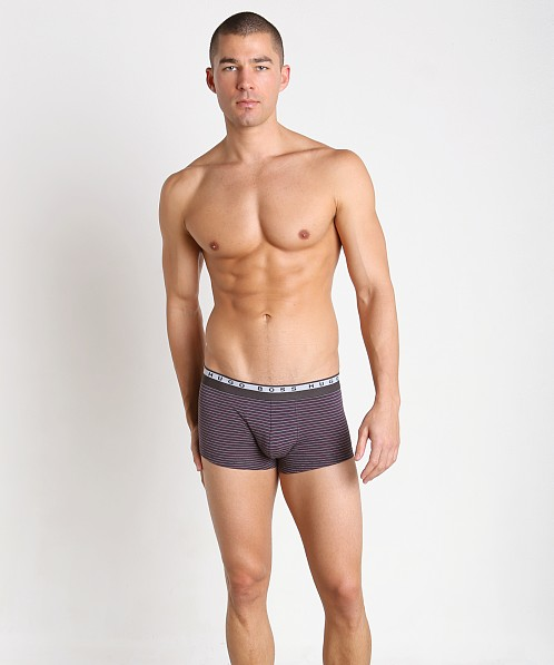 Hugo Boss Stripes Boxer Open Purple