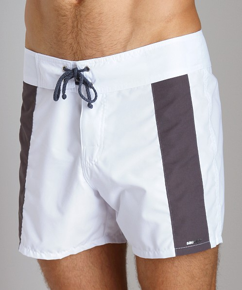 Sauvage Boardwalk Surf Trunks White/Charcoal
