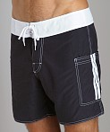 Sauvage Pocketed Board Shorts Black/White, view 3