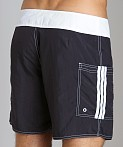 Sauvage Pocketed Board Shorts Black/White, view 4