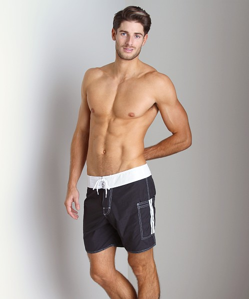 Sauvage Pocketed Board Shorts Black/White
