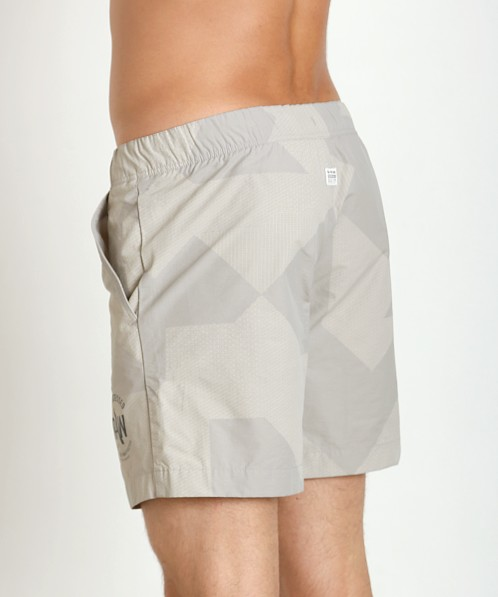G-Star Pragly Camo Beach Shorts Industrial Grey