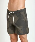 G-Star Pragly Camo Beach Shorts Raw Grey, view 3