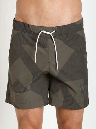 Model in raw grey G-Star Pragly Camo Beach Shorts