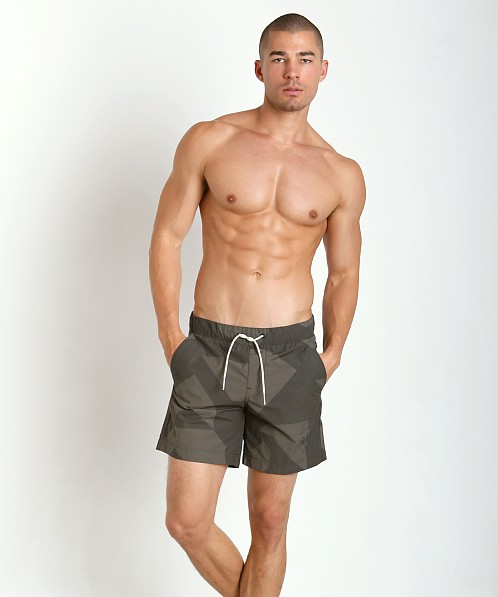 G-Star Pragly Camo Beach Shorts Raw Grey