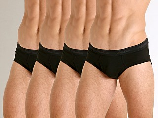 Calvin Klein Cotton Classics Hip Brief 4-Pack Black