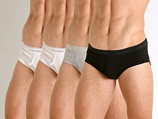 Calvin Klein Cotton Classics Hip Brief 4-Pack Black/White/White/