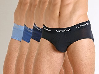 Calvin Klein Cotton Classics Hip Brief 4-Pack Blue Multi