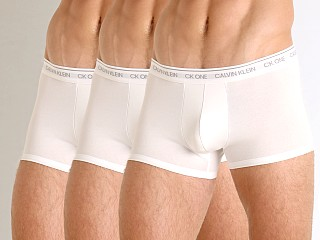 Calvin Klein CK One Cotton Stretch Low Rise Trunk 3-Pack White
