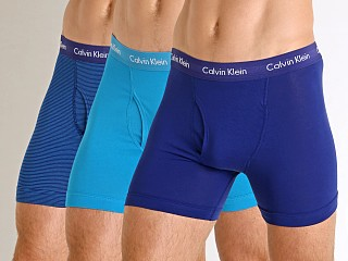 Calvin Klein Cotton Stretch Boxer Brief 3-Pack Open Ocean Multi