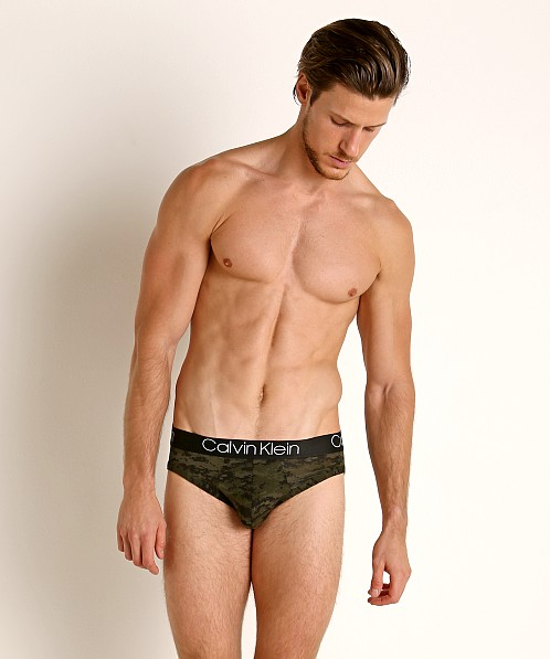 Calvin Klein Ultra Soft Modal Hip Brief Green Camo