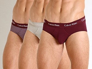 Calvin Klein Cotton Stretch Hip Brief 3-Pack Jet/Stripe/Raisin