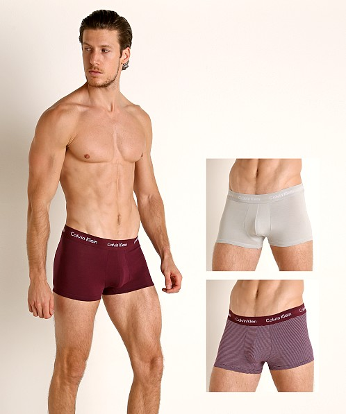 Calvin Klein Cotton Stretch Low Rise Trunk 3-Pack Jet/Stripe/Ra