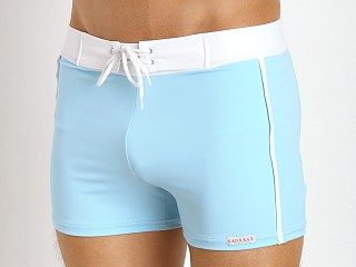 You may also like: Sauvage Retro Nylon/Lycra Swim Shorts Sky Blue