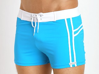You may also like: Sauvage Mariner Stripes Italian Lycra Swim Trunk Turquoise