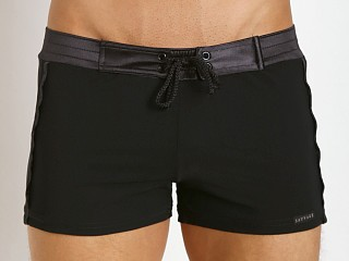 You may also like: Sauvage Tuxedo Black Satin Band Swim Trunk Black