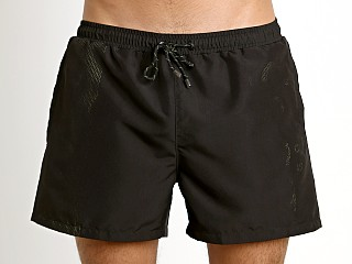 Model in charcoal Hugo Boss Lizardfish Swim Shorts