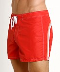 "Sundek 14"" Classic Low-Rise Boardshort Fire Red #2, view 3"