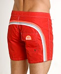 "Sundek 14"" Classic Low-Rise Boardshort Fire Red #2, view 4"