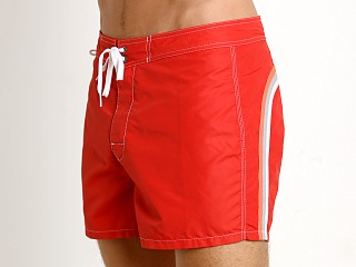 "Sundek 14"" Classic Low-Rise Boardshort Fire Red #2"