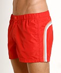 "Sundek 13"" Elastic Waistband Trunk Fire Red #2, view 3"