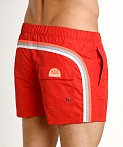 "Sundek 13"" Elastic Waistband Trunk Fire Red #2, view 4"