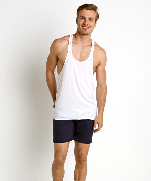 LASC String Tank Top White