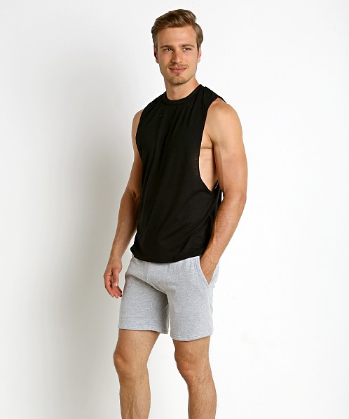 LASC Deep Cut Out Tank Top Black