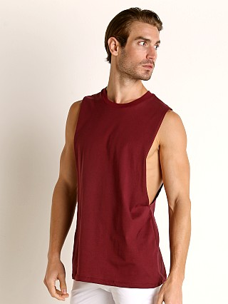 Complete the look: LASC Deep Cut Out Tank Top Burgundy