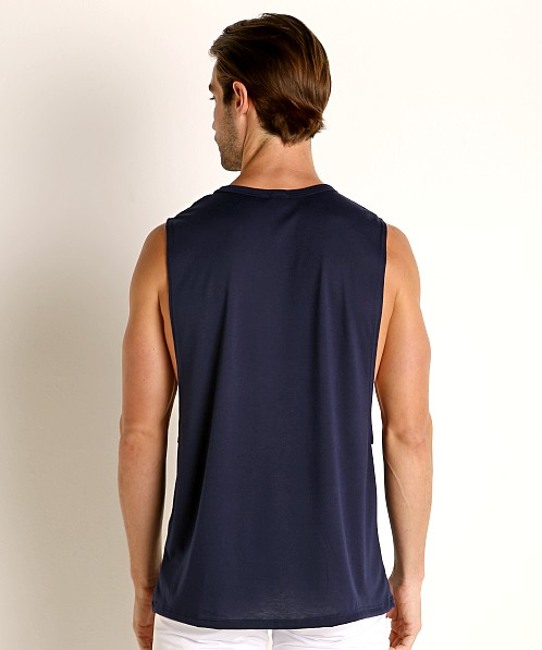 LASC Deep Cut Out Tank Top Navy