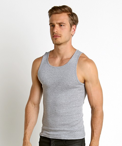 LASC Ribbed Tank Top Heather Grey