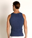LASC Ribbed Tank Top Navy, view 4