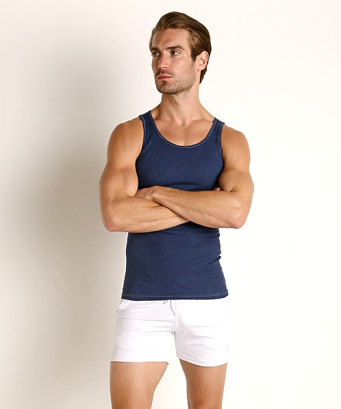 LASC Ribbed Tank Top Navy