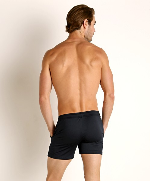 LASC Pique Mesh Performance Workout Short Black