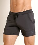 LASC Pique Mesh Performance Workout Short Charcoal, view 3